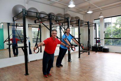 Ana Moser e José Elias de Proença dão aula de reabilitação